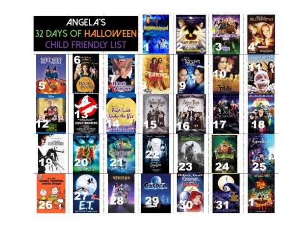 Halloween Movie List: Child Friendly Version – decoding adulthood